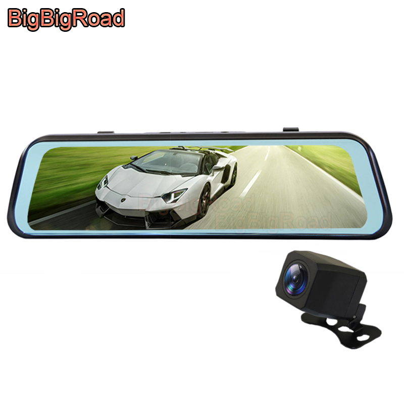 BigBigRoad Car DVR Dash Camera Stream RearView Mirror IPS Touch Screen For Kia Sorento Cadenza K5 K9 Trailster Forte K900 Optima image