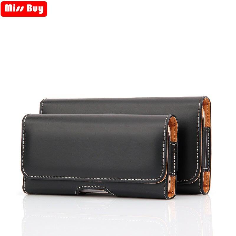 Universal caso do telefone bolsa para iphone para samsung para huawei para xiaomi redmi para modelos nokia cinto clipe coldre capa de couro