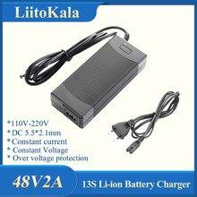 LiitoKala 48V 2A ładowarka 13S 18650 ładowarka 54.6v 2a stały prąd stałe ciśnienie jest pełne samoczynnego zatrzymania