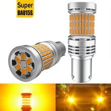 2x LED Canbus No Error Turn Signal Lamp BA15S PY21W 1156 BAU15S No Hyper Flash Car Light For Golf 7 4 6 Mk7 5 gti Mk5 Mk2 Mk3