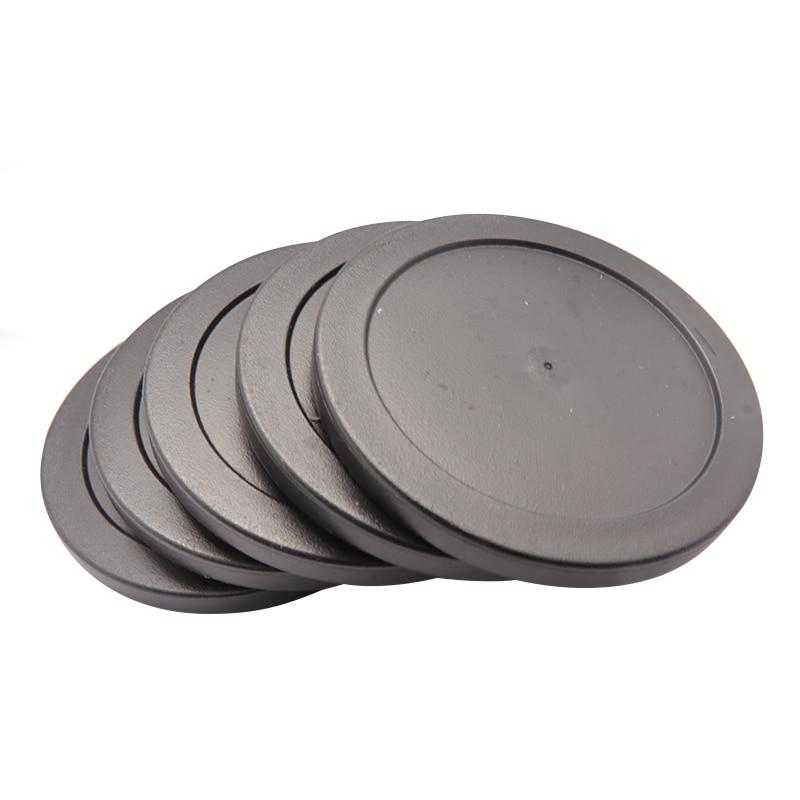 2Pcs Black Air Hockey Table Pusher Puck 63mm 2-1/2