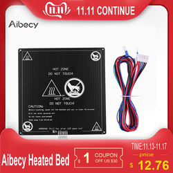 Aibecy alumínio 12 v viveiro 220*220*3mm cama aquecida com cabo de fio heatbed plataforma kit para anet a8 a6 3d impressora peças