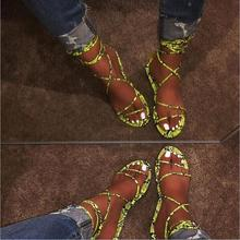 Free send 2019 new fashion women slippers summer sexy snake cross bandage flat bottom ladies sandals