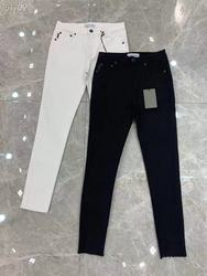 2020 Weiblichen Jeans Denim Hosen Koreanische Mode Bleistift Hosen Weiß/Schwarz Runway Top Verkauf Denim Elastische Hose für Damen donna