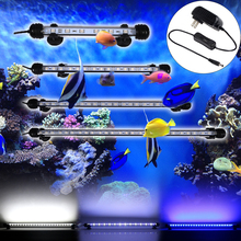 US Plug Fish Tank Light LED Aquarium IP68 Waterproof Submersible Light\ Acrylic 18-48CM Bar D35
