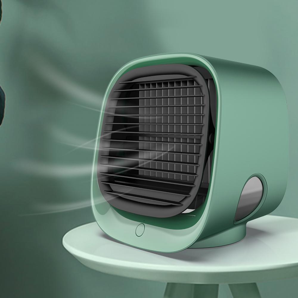 Мини Портативный Кондиционер Многофункциональный Увлажнитель Ударитель Очиститель USB Вентилятор для настольного воздуха с водяным баком Home 5V