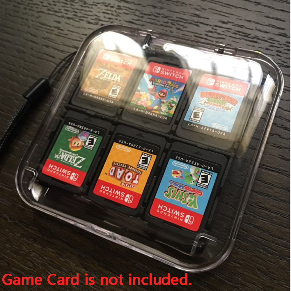 Transparent 12 In 1 Games Card Case Storage Case Box Protective Card Holder Card Box Games Accessories For Nintend Switch For NS