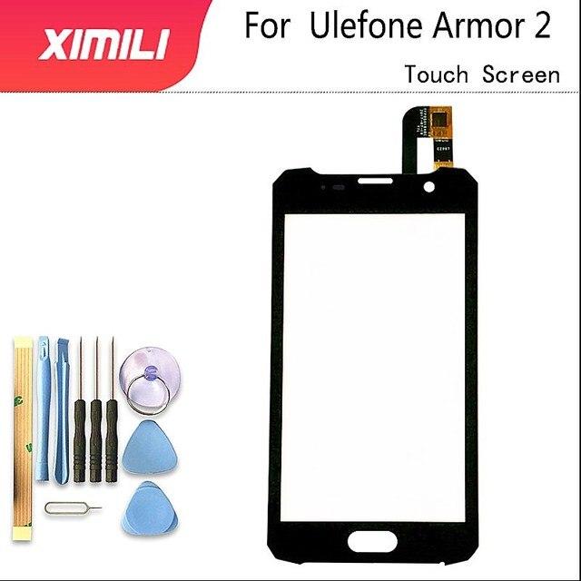 5.0 אינץ עבור Ulefone שריון 2 מגע מסך שחור צבע Digitizer זכוכית לוח עצרת החלפת Ulefone שריון 2 טלפון סלולרי