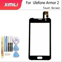 5.0 インチ Ulefone 鎧 2 タッチスクリーンブラックカラーデジタイザガラスパネルアセンブリ交換 Ulefone 鎧 2 携帯電話