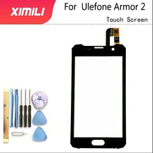 5.0 inch For Ulefone Armor 2 touch screen black color Digitizer glass panel Assembly Replacement Ulefone Armor 2 cell phone