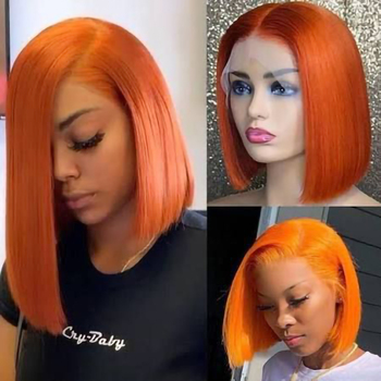 Short Bob Wig Ombre Lace Front Wigs For Black Women Brazilian Human Hair Highlight Wig Bob Lace Closure Wig Pre Plucked Hair 3
