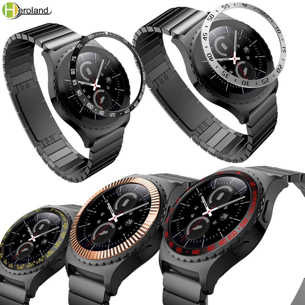 Hero Iand Gear S2 Smartwatch Cover For Samsung Gear S2 Classic 732 Bezel Ring Smart Ring Adhesive Case Anti Scratch Metal Circle