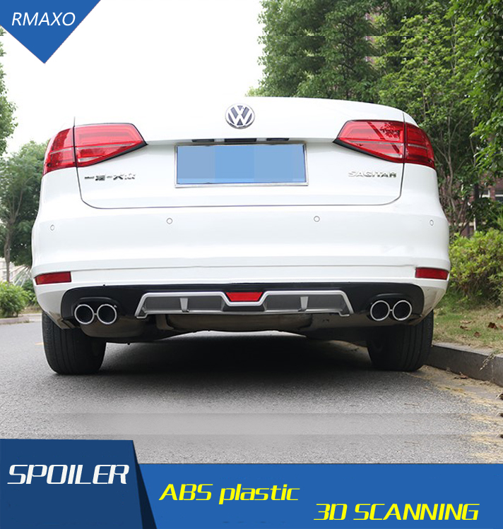 For VW Jetta Rear spoiler ABS Rear Bumper Diffuser Bumpers Protector For Volkswagen Jetta After chrome lip rear spoiler 2015(China)