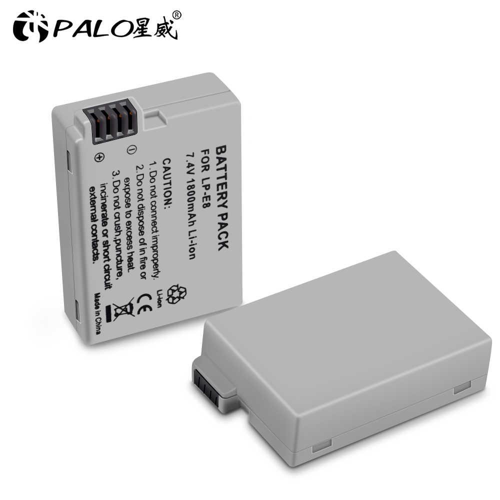 PALO LPE8 แบตเตอรี่ LP-E8 Bateria LP-E8 LP E8 สำหรับ Canon 550D 600D 650D 700D X4 X5 X6i X7i T2i t3i T4i T5i กล้อง DSLR 0.11