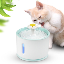 Automatic Pet Cat Water Fountain LED Electric USB Drinking Bowl Cat Feeder Drink Filter Mute Drinker new 2 5l automatic electric cat dog pet water fountain pet water feeder drink bowl drinker filter cat water dispenser