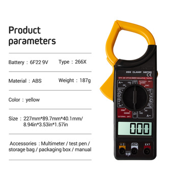 Digital Current Clamp Meter Buzzer Data Hold Non-contact Multimeter Voltmeter Ohmmeter Ammeter Ohmmeter Volt AC DC multimeter ammeter voltmeter wattmeter ac 80 260v 0 100a lcd digital display current voltage power energy meter