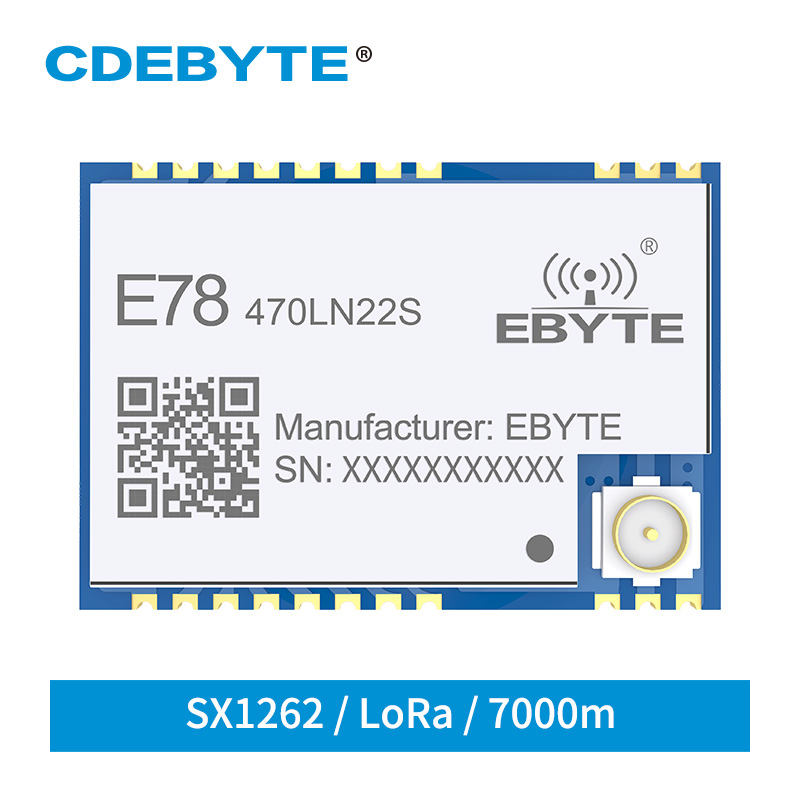 ASR6501 SoC LoRa 22dBm Wireless Transceiver LoRaWAN E78-470LN22S SPI SMD IPEX Stamp Hole Connector TCXO RF Transmitter Receiver