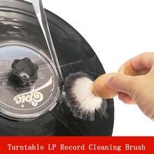 LEORY LP щетка для очистки виниловых пластин с деревянной ручкой для CD проигрывателя Longplay, чистящая щетка для проигрывателя пыли
