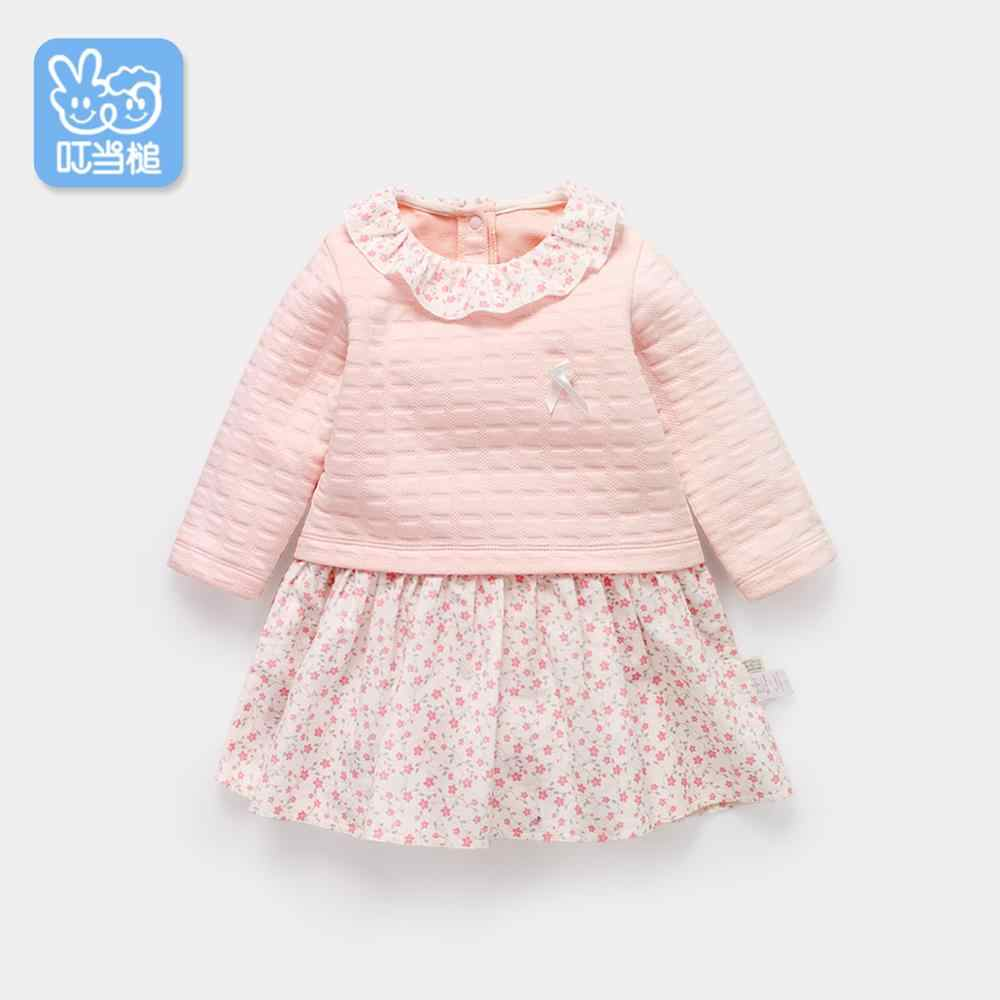 Autumn Girl Dress Cotton Long Sleeve Children Dresses floral Kids Dresses for Girls Fashion Girls Clothing