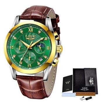 LIGE 2021 New Fashion Watch Women Watches Ladies Creative Steel Women Bracelet Watches Female Waterproof Clocks Relogio Feminino 13