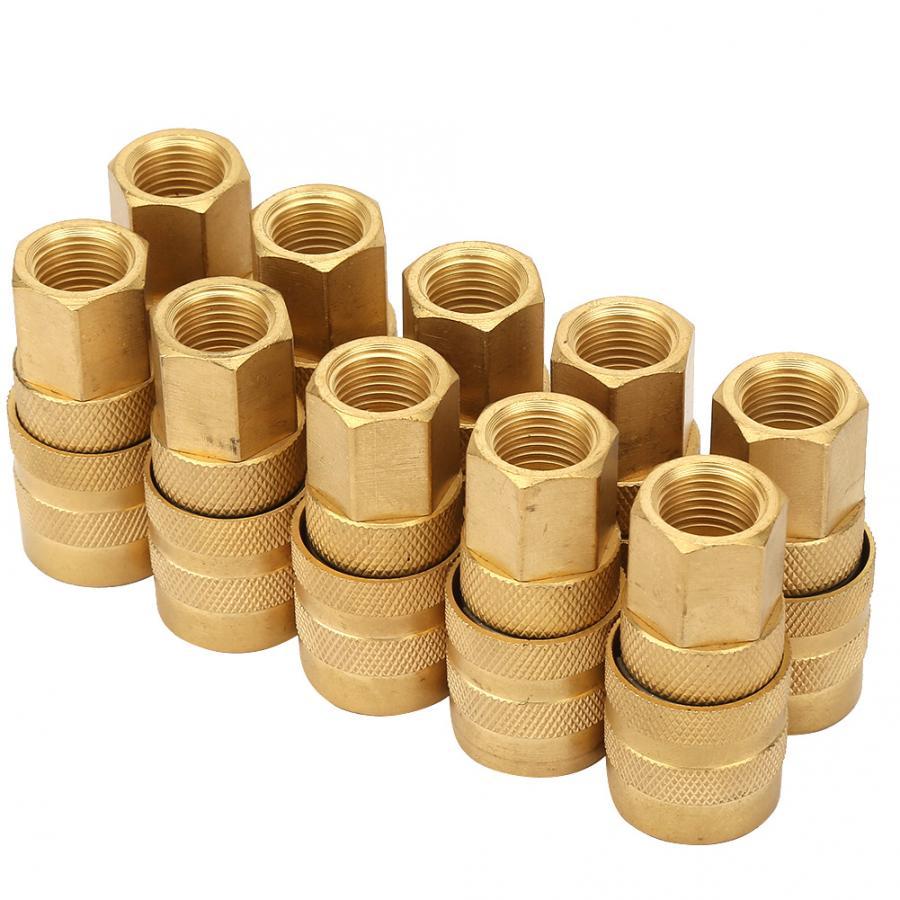 Пневматический клапан 10 шт. 1/4 FPT M Стиль муфта детали для воздушного шланга вилка быстрый разъем воздушный компрессорный клапан