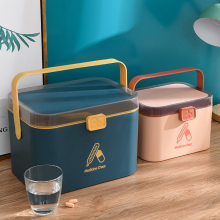 WBBOOMING Home Care Medicine Cabinet Plastic Storage Boxes Rectangle Storage Box Portable And Fashion Color Storage Boxes & Bins