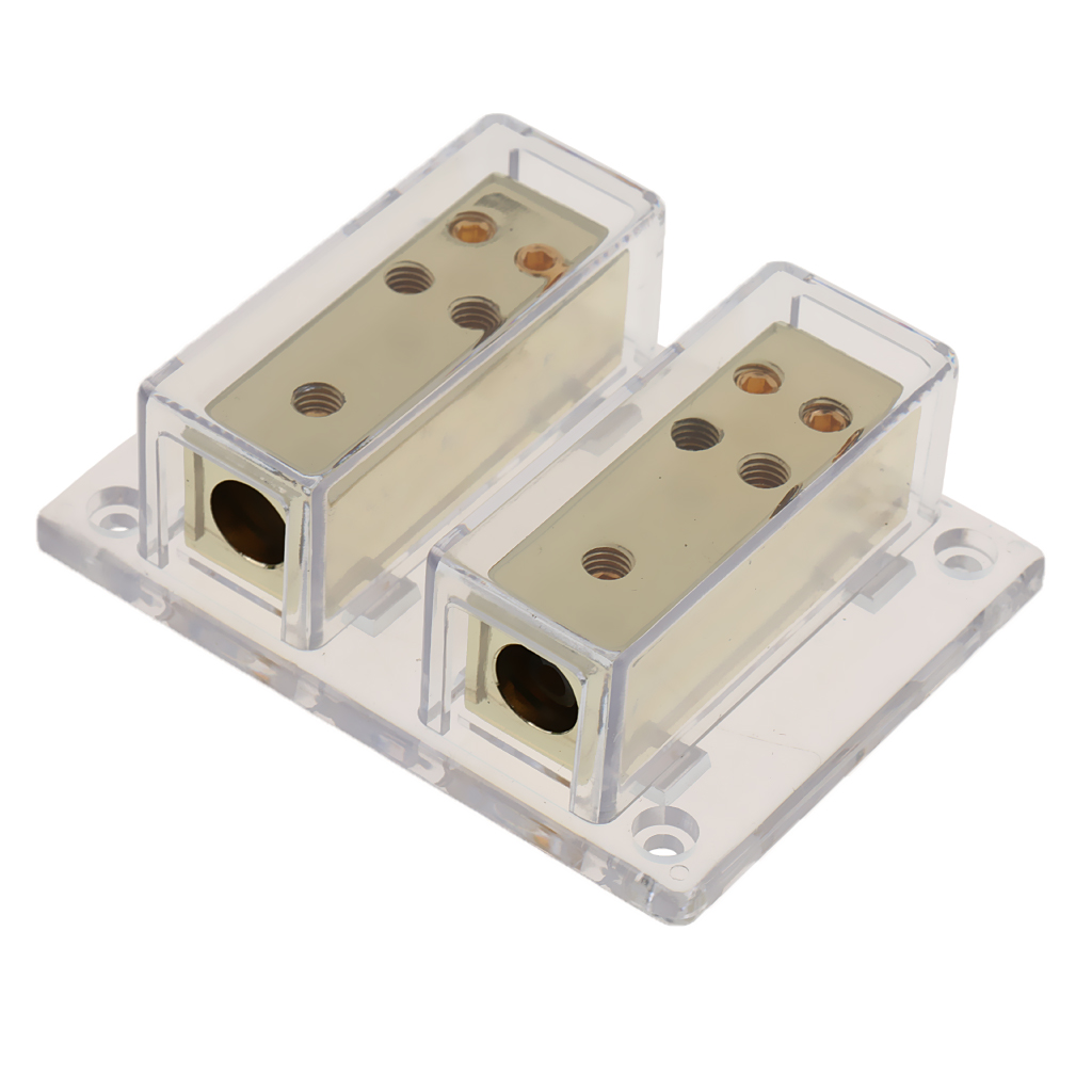 Buy 8-Way 4/8 Ga Car Audio Amp Power Ground Cable Splitter Distribution Block for only 16.98 USD