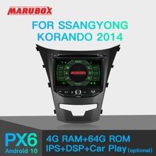 MARUBOX Per Ssangyong Korando Lettore Multimediale 2014 Dellautomobile PX6 Android 10 GPS Car Audio Radio Auto 8 Core 64G, IPS, DSP KD7225