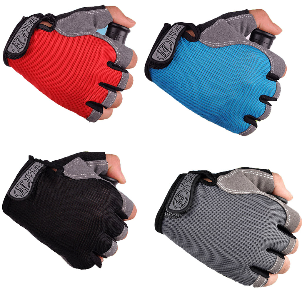 Cycling Bicycle Bike Outdoor Camping Hiking Motorcycle Gloves Sports Half Finger Fingerless Breathable