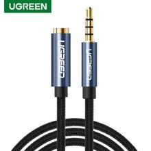 Ugreen 3.5mm cabo de extensão áudio jack 3.5 macho para fêmea fone ouvido cabo extensor para huawei p40 pro estéreo 3.5mm jack aux fio