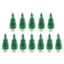 Mini sapin de noël, 12 pièces, bricolage, décorations de noël pour la maison, ornement de noël de noël de noël, cadeau pour enfant