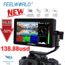 FEELWORLD F6 PLUS 5.5 Inch IPS 3D LUT Touch Screen 4K HDMI Monitor Full HD 1920x1080 Camera Field Monitor for DSLR Video Movie