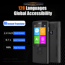 Ai Smart Voice Translator Portable Touch Screen Photo Translation 128 Language english Learning 0.1s Fast Translation 1200mAh reciprocal translation of passive voice in english