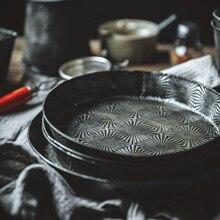 Металлическая тарелка поднос Starlight в стиле ретро, винтажная посуда, тарелка для выпечки, украшение для еды, реквизит для фотосъемки