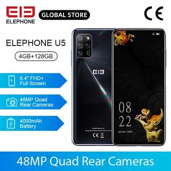 Перейти на Алиэкспресс и купить Новый ELEPHONE U5 4GB 128GB смартфон 48MP Quad камеры заднего 6,4 дюймов FHD + безрамочный экран с Экран Helio P60 Octa Core 4000 мАч Android 10,0 NFC