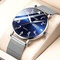 2020 новые модные ультра-тонкие мужские часы Топ люксовый бренд повседневные мужские часы из нержавеющей стали с сетчатым ремешком деловые ч...