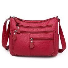 LONOOLISA Fashion Ladies Shoulder Bags Multi-pocket Designer Crossbody Bags for Women Large Capacity Messenger Bag Bolso mujer