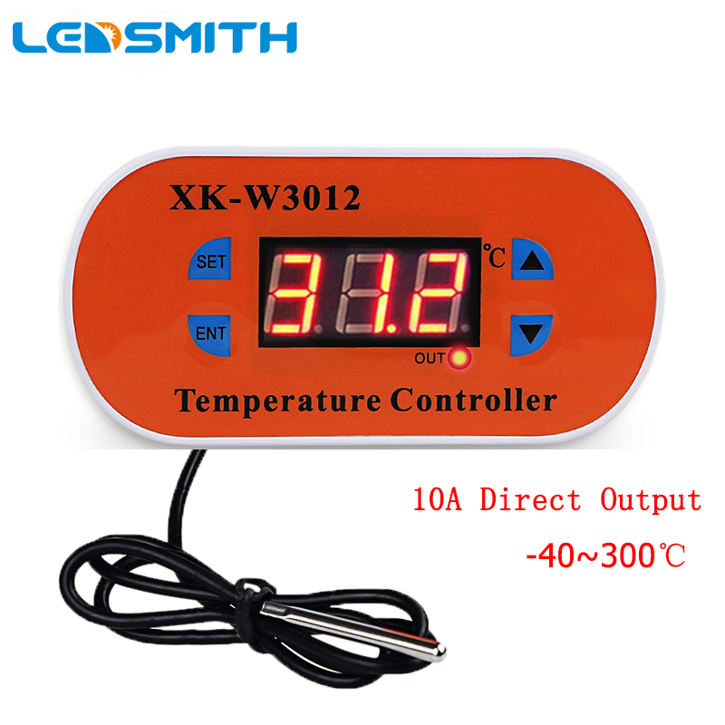 W3012 Digital Thermostat High Temperature Controller 10ADirect Output <font><b>Egg</b></font> Incubator Temperature Control Switch <font><b>Sensor</b></font> Meter image