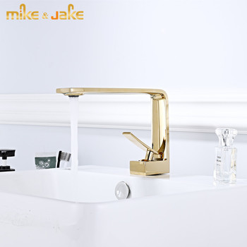 Luxury gold faucet Brass body basin faucet bathroom hot and cold single handle faucet golden basin sink crane bathroom tap