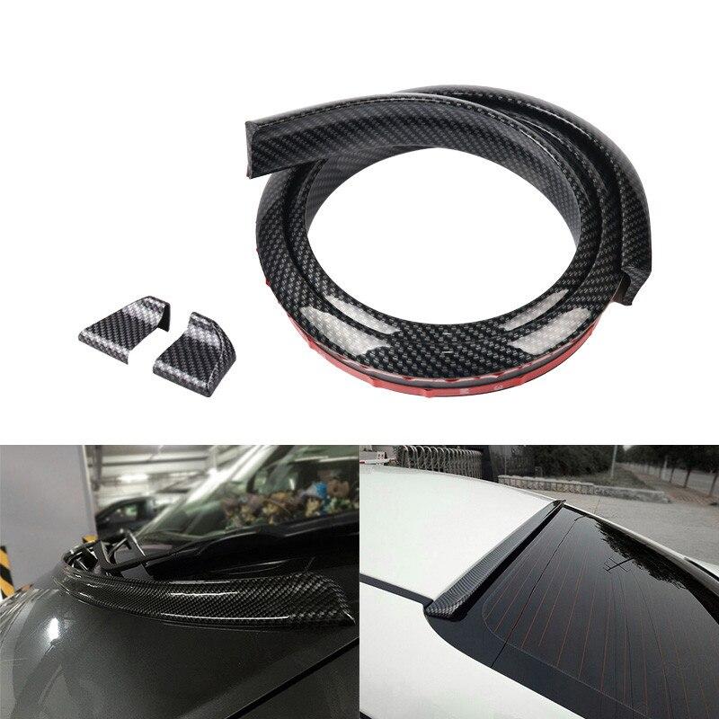 1.5M samochód stylizacji 5D Carbon Rubber Tail Spoiler akcesoria samochodowe modyfikacja bezstykowe puszczania samolotów uniwersalny Spoiler