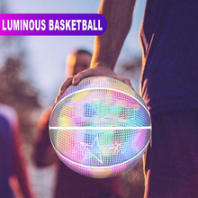 Holographic Glowing Reflective Basketball Lighted Glow Basketball Night Game Portable YH-17