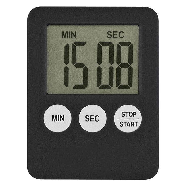 Новый супер тонкий цифровой ЖК-экран, 1 шт., 7 цветов, кухонный таймер, квадратный кухонный будильник прямого и обратного счета магнитные часы