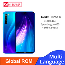 "Global ROM Xiaomi Redmi Note 8 4GB RAM 64GB ROM Octa Core Smartphone Snapdragon 665 48MP 6.3"" Screen Fast Charger Cellphone"