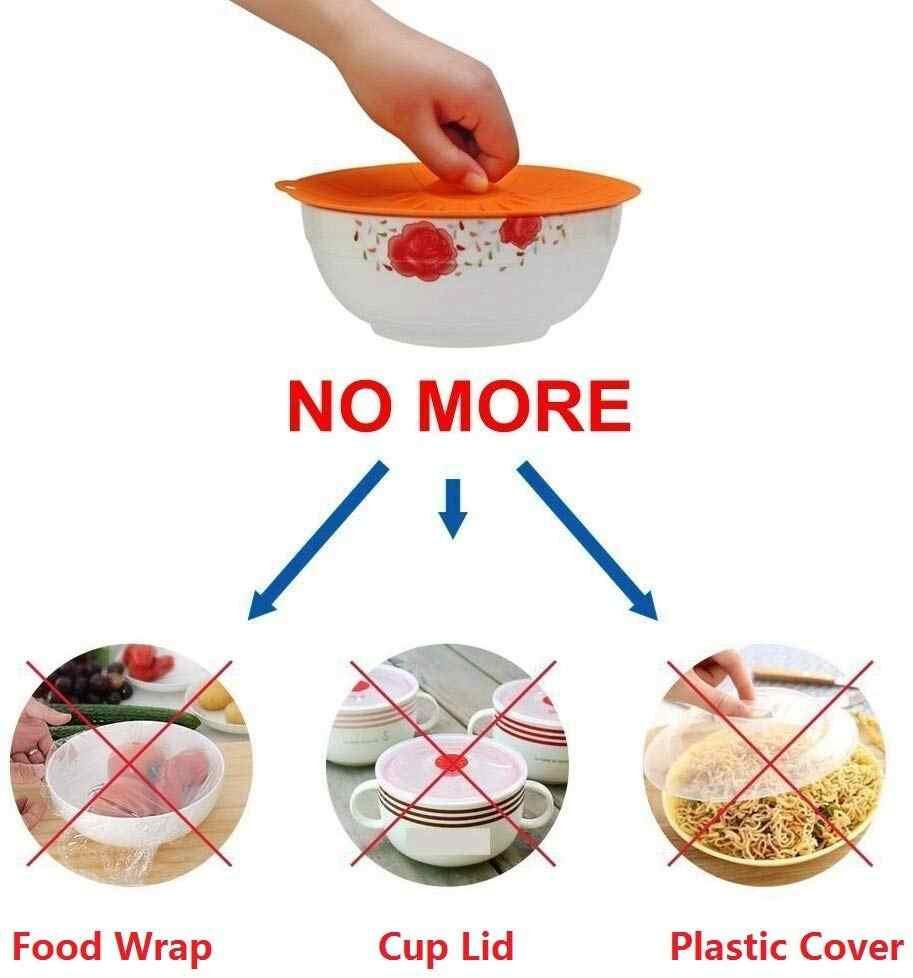 5 Pcs Bpa Gratis Silicone Suction Tutup Makanan Cover Microwave Mug Pot Mangkuk Tutup Pot Panci Caps Menutupi Peralatan Masak Dapur aksesoris