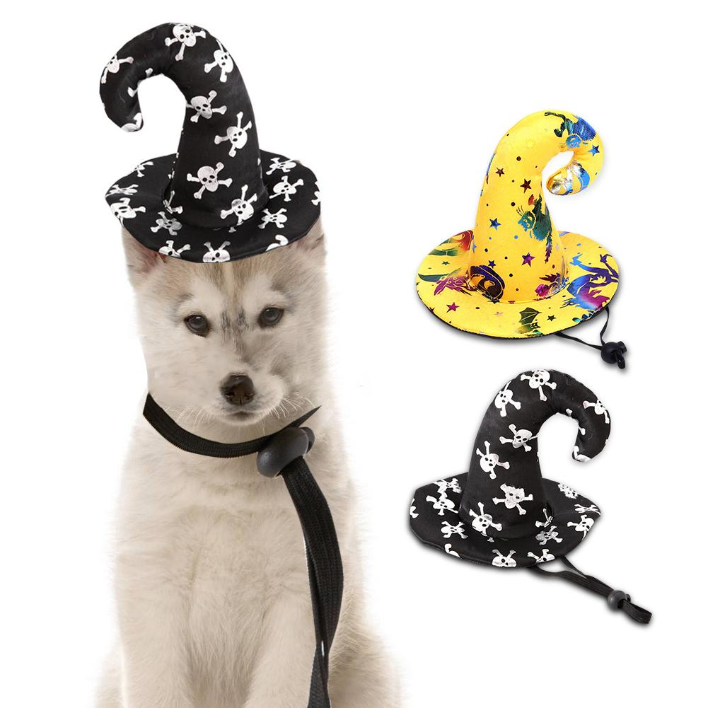 Creative Dog Halloween Hat Wizard Hat Halloween Pet Wizard Hat Dog Cat Costume For Halloween Party Dog Cosplay Pet Accessories