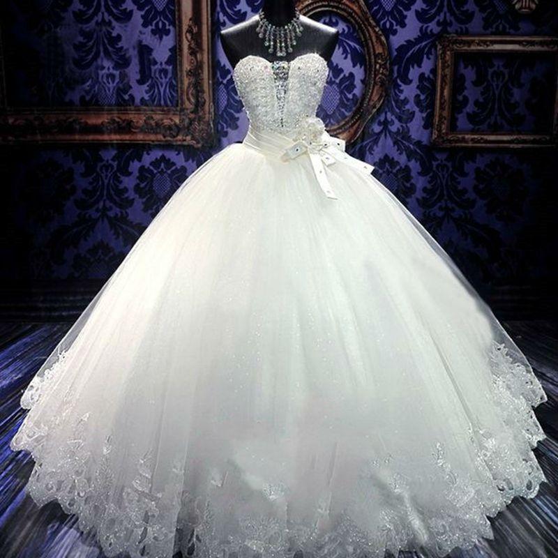 Popodion wedding dress strapless rhinestone plus size bridal dress Africa wedding dresses WED90490