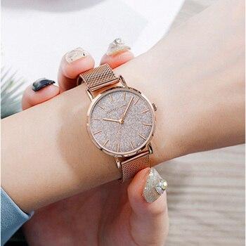 Roségold Mesh Uhr | 2019 Neue Frauen Quarz Uhren Mode Luxus Rose Gold Mesh Frauen Uhr Relogio Feminino Damen Uhr Für Frauen Reloj Mujer