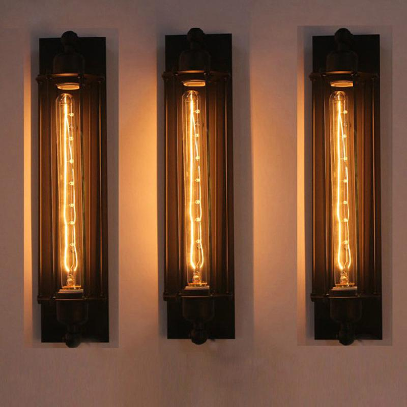 MeterMall Industrial Vintage Wall Lamp Bra Iron Loft Lamps Bedroom Corridor Restaurant Pub Edison Retro Wall