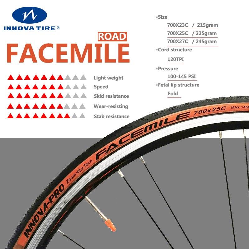 Ultraleve anti punctura facemile 700 * 23c pneus de bicicleta de estrada 120 tpi pneu de bicicleta de estrada 700 * 25c pneu de bicicleta 700c ciclismo pneus innova