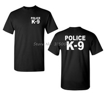 Polícia K-9 k9 frente e volta nova camiseta moda o-pescoço algodão t camisa masculina manga curta camiseta hip hop t harajuku